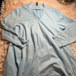 Pomelo Kids Made In Usa Blue Cut Out Blouse Size S